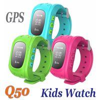 2016 Enfants GPS Tracker Smart Watch Téléphone SIM Quadri-bande GSM Safe SOS appel Q50 F13 K37 Smartwatch pour Android IOS Livraison gratuite 20pcs