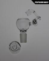 100% Quartz Honey Seaux avec des bouchons de carbone clous de quartz sans dents QUARTZ bras oscillant Honey seaux bol en verre FC5002