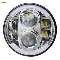 Light Sourcing 7 Inch Universal 80W Cree High Low DRL Turnin...