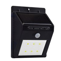 Solar Powered Sensor Wall Lights Energy Saving Solar Panel L...
