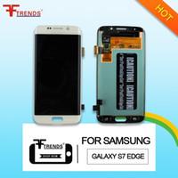 pour écran LCD tactile Samsung Galaxy S7 Bord d'origine AAA Assemblée Digitizer G935FD G935V G935T G935P G935F G935 G935A Dropshipping