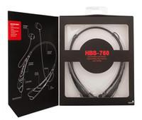 Oreillette Bluetooth Samsung LG HBS760 casque sans fil Casques d'écoute Neckband mains libres pour l'iPhone Universal HBS 760 casques EAR005