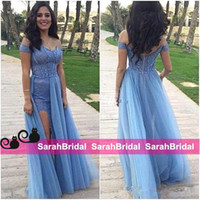 New Design Split Prom Dresses 2016 Sexy Off the Shoulder She...