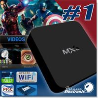 Android MXQ TV Box Amlogic S805 Quad-Core Cortex-A5 Mali-450 Quad-Core H.264 / H.265 KODI 16.1 Préinstallé MXQ Pro TV BOX Livraison gratuite