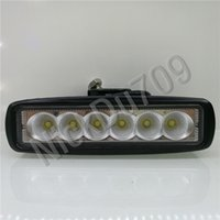 18W Led Driving Lights Work Bar Flood Light Jeep Wranglers T...