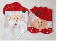 Christmas Decorations Chair Cover Santa non- woven fabrics Ch...