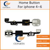 Pour iphone 4 5 6 Accueil Bouton Menu Clé Flex Câble Ruban Remplacement Pièces de rechange