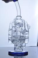 Nouvelle arrivée Verre Bongs 5 lustre huile recycleur truque Pipes Beaker Oil Rigs verre d'eau avec 14 mm joint