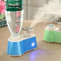 4 цвета Низкий уровень шума бутылка увлажнение воздуха Мини-увлажнитель воздуха, чтобы увлажнить кожу большинства бутылок воды, доступных