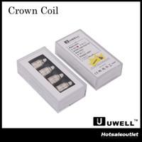 Authentique Uwell Crown Sub Ohm tête de bobine de réservoir Bobines verticales doubles 0.5ohm 0.25ohm Ni200 TC 0.15ohm Simple 1.2ohm