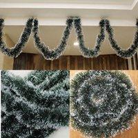 1Pcs Xmas Tree Hanging Dark Green Tops White Edge Ribbon Gar...