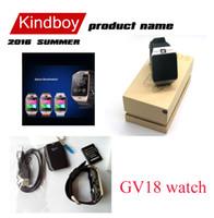 2016 GV18 1,5 pouces NFC montre Smart Watch Avec écran tactile 1.3MCamera Bluetooth SIM GSM Phone Call étanche pour Android Phone DZ09 gratuitement DHL