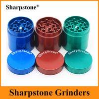 Оригинал Sharpstone Измельчители 4 шт Tabacco Херб Grinder 40мм 50мм Измельчители цинковый сплав с магнитом Top лопата 6 цветов OEM Доступные