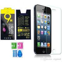 Película de cristal templado del protector de la pantalla del paquete de papel para para Iphone 5 6 6s más 7 Galaxia S6 / S5 S7 de Samsung
