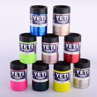 12OZ красочные YETI чашки из нержавеющей стали 304 10 цветов 1: 1 12oz YETI охладители Rambler Тумблерные автомобильные чашки путешествия спортивные кружки Бесплатная доставка DHL