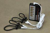 Male Electro Shock 4 Pcs Electric Shock Penis Rings Enhancem...