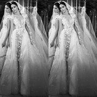 2016 Zuhairmurad Mermaid Wedding Dresses With Detachable Ski...