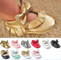 Seven Harper 12 Style Baby PU Leather Bowknot Shoes Moccasin...
