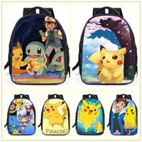 Novas crianças bonito dos desenhos animados mochila moda mochila Lazer sacos de escola mochila pikachu estudante mochila A0354 atacado