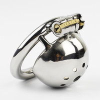 Super Small Male Bondage Chastity Device Stainless Steel Coc...