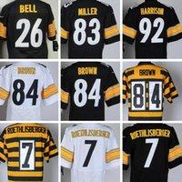 2016 Steelers #7 Ben Roethlisberger #84 Antonio Brown #83 He...