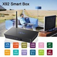 X92 Android Box S912 Octa Core 64 Bit 2G+ 16G Mini PC H. 265 B...