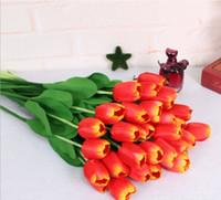 Набор из 10 Букет тюльпанов Мини Искусственный цветок Craft Главная партии Свадьба Декор шелковые цветы Моделирование Цветы