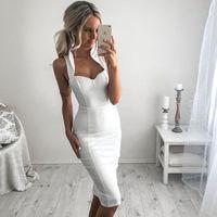 wholesale 2016 new white elegant luxury off shoulder bodycon...