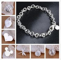 Mix 12 style 12PCS Lot Wholesale Plated 925 Sterling Silver ...
