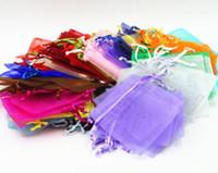 Новые прибытия 7x9cm Свадебные украшения Baby Shower органза сумки ювелирные подарки благосклонности партии конфеты День рождения принадлежности Упаковка Гуди