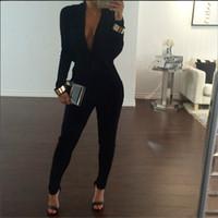 Wholesale Womens Black Long Sleeve Jumpsuits - Buy Cheap Womens ...