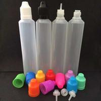 Bouteilles 60ML Childproof Unicorn Vape E-Liquid Refill PE Pen Shape Plastique Style aiguille longue Conseils Tamper enfants Caps Preuve Pour E Juice