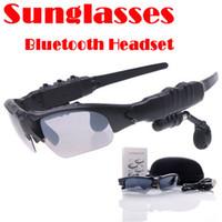 Smart Wear Mode Bluetooth 4.0 lunettes de soleil avec écouteurs de sport Stereo Headphone Driving Lunettes de soleil Riding yeux lunettes avec détail