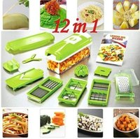 12PC Set Kitchen Tool Vegetable Fruit Nicer Dicer Plus Slice...