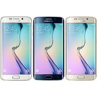 Восстановленный Оригинальный Samsung Galaxy S6 Край G925F сотовый телефон 5.1Inch 2560 * 1440pixels экран 3G RAM 32G ROM 16.0MP камера Factory Unlocked