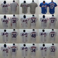 Men' s Elite New York Mets #17 Keith Hernandez #31 Mike ...