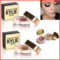 Новый Дженнер День рождения Creme издание Copper Eyeshadow крем Косметика Kylie Косметика розового золота тени для век Косметика Бесплатная доставка