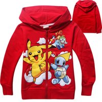 Boys Poke go Pikachu Hoodies Sweatshirts 2 Color Free DHL ch...