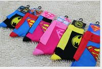 100pairs Baby Cartoon Hero Socks Superman Men Women Superman...