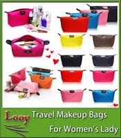 2016 Nouveau sucrerie Mignon Femmes Lady Travel Sacs de maquillage sac cosmétique Sac à main d'embrayage Sacs à main occasionnels Dumpling type sac à main cosmétique cadeau DHL