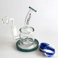 TORO plates-formes pétrolières en verre avec 4MM Quartz banger ongles bongs en verre épais mâle joint 14.5MM bubbler dab rig Livraison gratuite