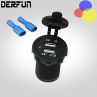 Waterproof Dual USB Motorcycle Car Charger Adapter 12~24V Ba...