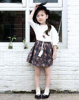 2016 Autumn Children Girls Lace Long Sleeve White Shirt Vint...
