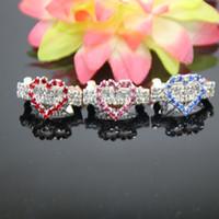 wholesales!luxury rhinestone heart hairwear girl hair orname...