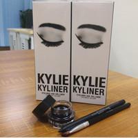 Maquillaje caliente Kylie Cosmetics KYLINER Cumpleaños Edición Limitada Eyeliner Kit Negro Bronce Color Negro Alta calidad 3 estilo DHL free