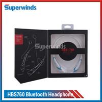Samsung LG HBS760 Casque sans fil Bluetooth casque écouteurs mains libres pour iPhone Casques universels HBS 760 DHL