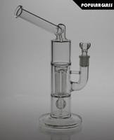 26CM Tall bong en verre mini pieux peyote pylônes bongs en verre 4 piliers en verre de fumer des tuyaux d'eau de verre épais bong joint taille 14,4 mm FC-711