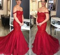 Красный ковер Знаменитости платья 2016 года Формальное Блестки Длинные Выпускные платья С плеча зашнуровать назад Mermaid Дубай арабский Вечерние платья 2017 года