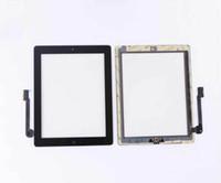 Pour iPad 2/3/4 Touch Screen Digitizer Remplacements avec butoon maison avec adhésif Pour Livraison Gratuite
