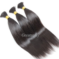 8A Brazilian Human Hair Bulk For Hair Extensions Silky Strai...
